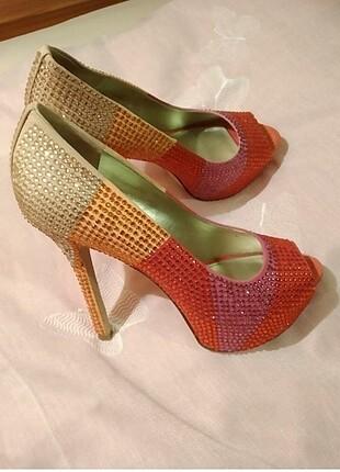 Enzo ozel tasarım taşlı ayakkabı