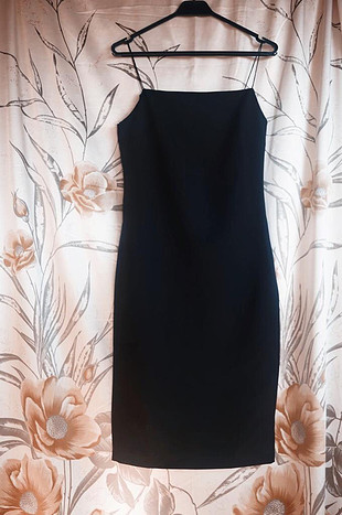 m Beden Siyah midi elbise