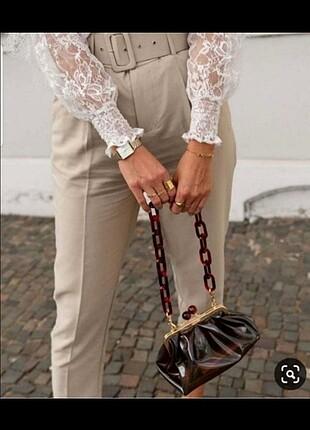 Zara kemik zincirli çanta