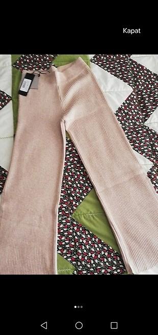 taş rengi triko pantolon