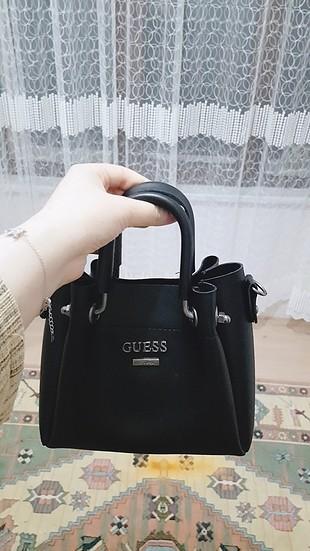 mini siyah deri çanta