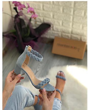 Mavi çok rahat sandalet