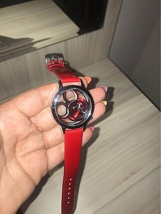Kırmızı Mickey Mouse Kol Saati