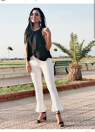 kot pantolon beyaz