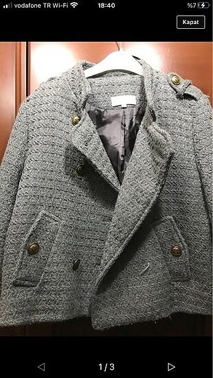 gri v2k vatkalı ceket