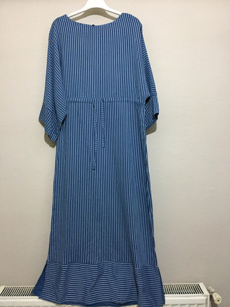 s Beden mavi Renk Mısra uzun elbise