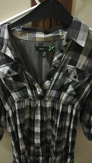Kareli gömlek elbıse