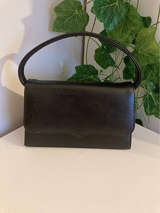 Beden siyah Renk Geçrek Vintage Çanta