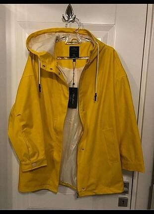 Mavi marka sarı xs yağmurluk