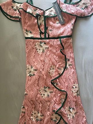 11ca438cfa9fe Zeynep Tosun For Koton Fırfırlı Romantik Elbise Abiye Uzun Abiye %37 ...