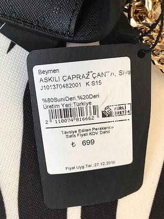 universal Beden siyah Renk Beymen Çanta