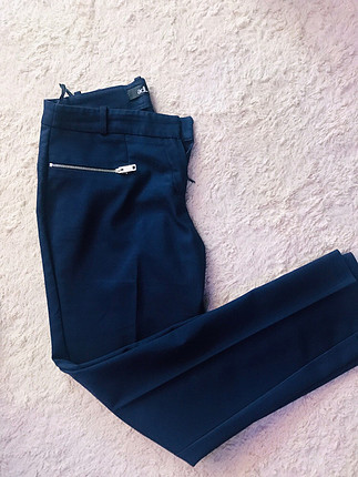 Lacivert kumaş pantolon