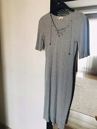 Kısa kollu triko elbise