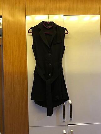 Siyah şifon zara model şortlu elbise