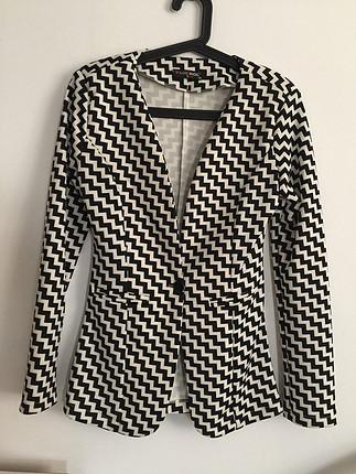Siyah beyaz blazer ceket yeni