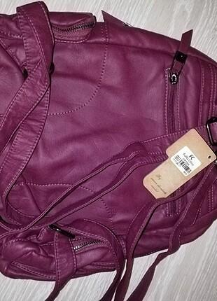Yıkanmış deri sırt çantası