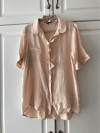 Massimo Dutti fırfırlı bluz