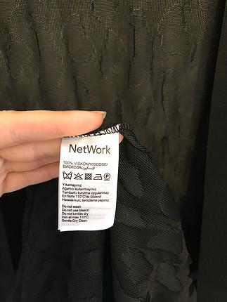 Network Network siyah hırka
