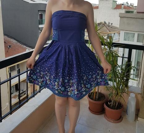 Mini cepli Mor yazlik elbise