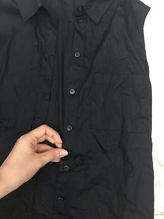 m Beden Beymen Kolsuz Siyah Gömlek