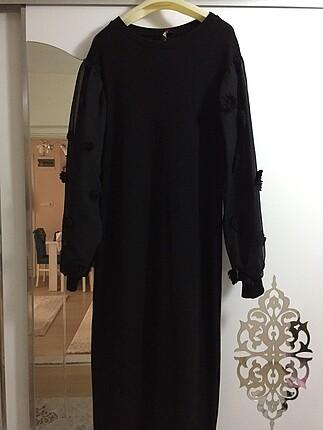 Organze kollu elbise