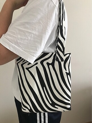 Beden siyah Renk Zebra çanta