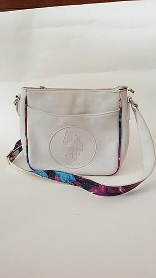 U.S. polo beyaz çanta