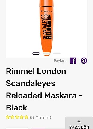 RIMMEL LONDON MASKARA BLACK