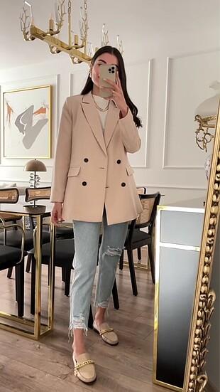 Zara Kruvaze Blazer Ceket