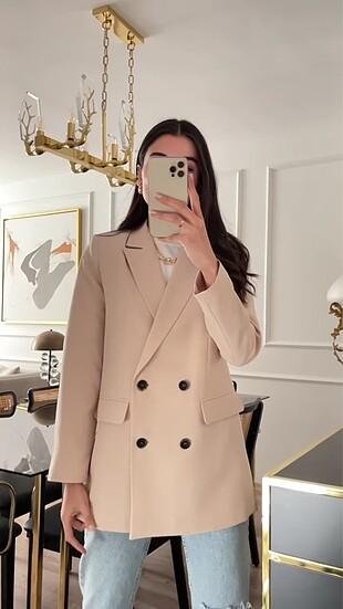Zara Zara Kruvaze Blazer Ceket
