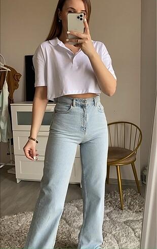 36 Beden mavi Renk Zara Wide Leg Jean