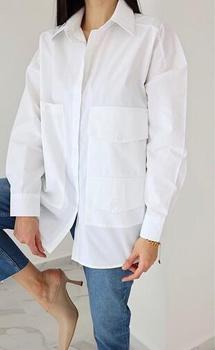 Zara Çok Cepli Gömlek