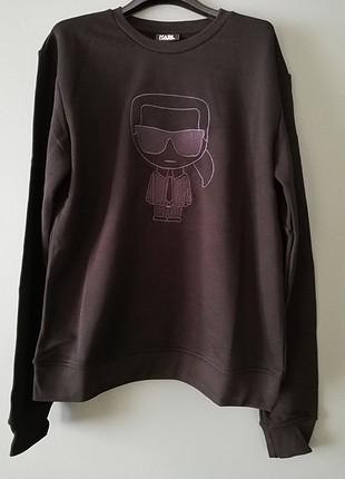 Karl Lagerfeld, nakış işlemeli logo sweatshirt.