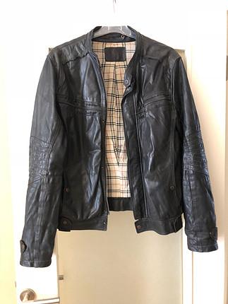 m Beden siyah Renk Erkek siyah deri ceket