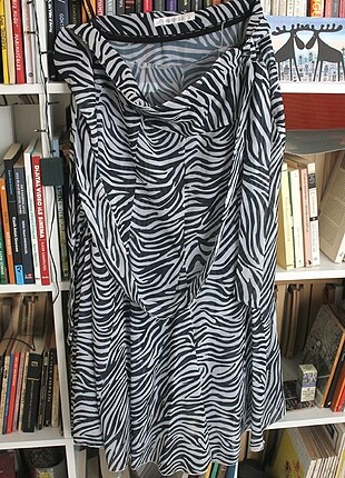 Zebra Desenli Etek