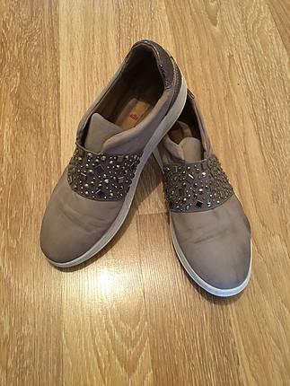 40 Beden gri Renk Elle ayakkabı