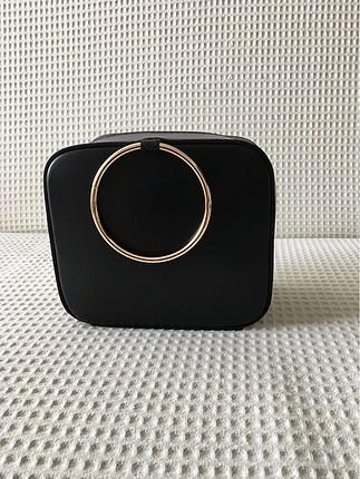 Lierac siyah makyaj çantası sıfır