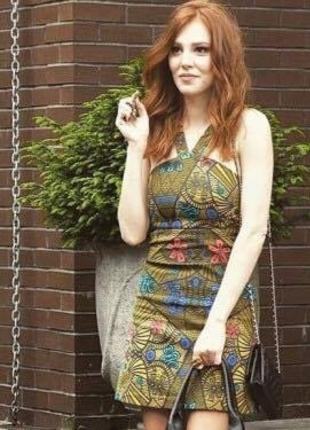 Kiralık Aşk Desenli Elbise